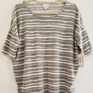 Lularoe Small Grey Striped Irma Tunic Top